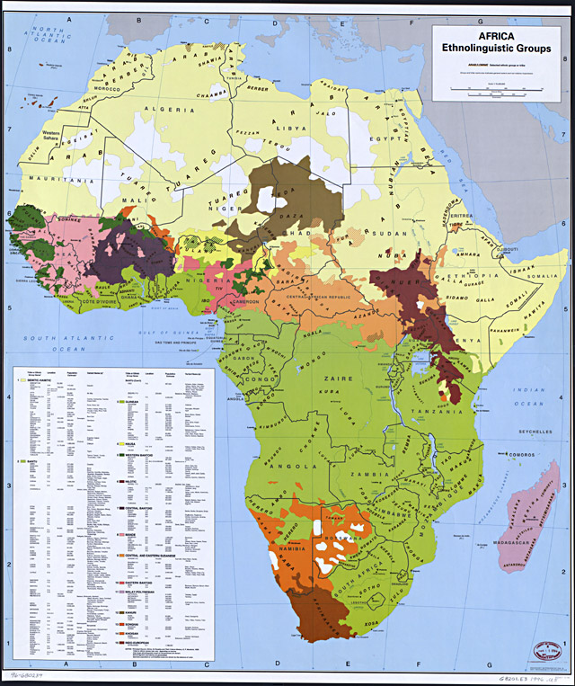Map of African Tribe